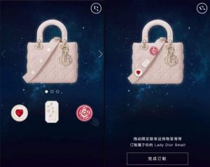 Sell bags in China: Lady Dior promoting bags WeChat Store
