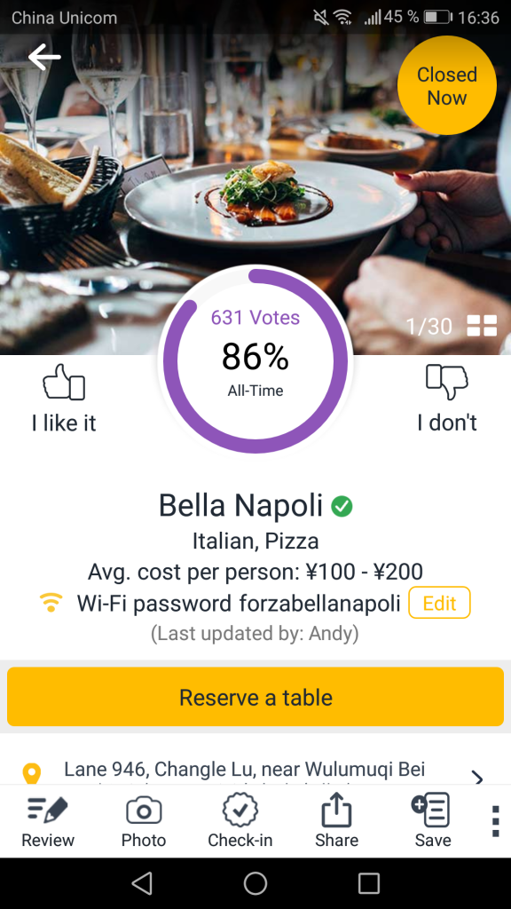 BonApp mobile app
