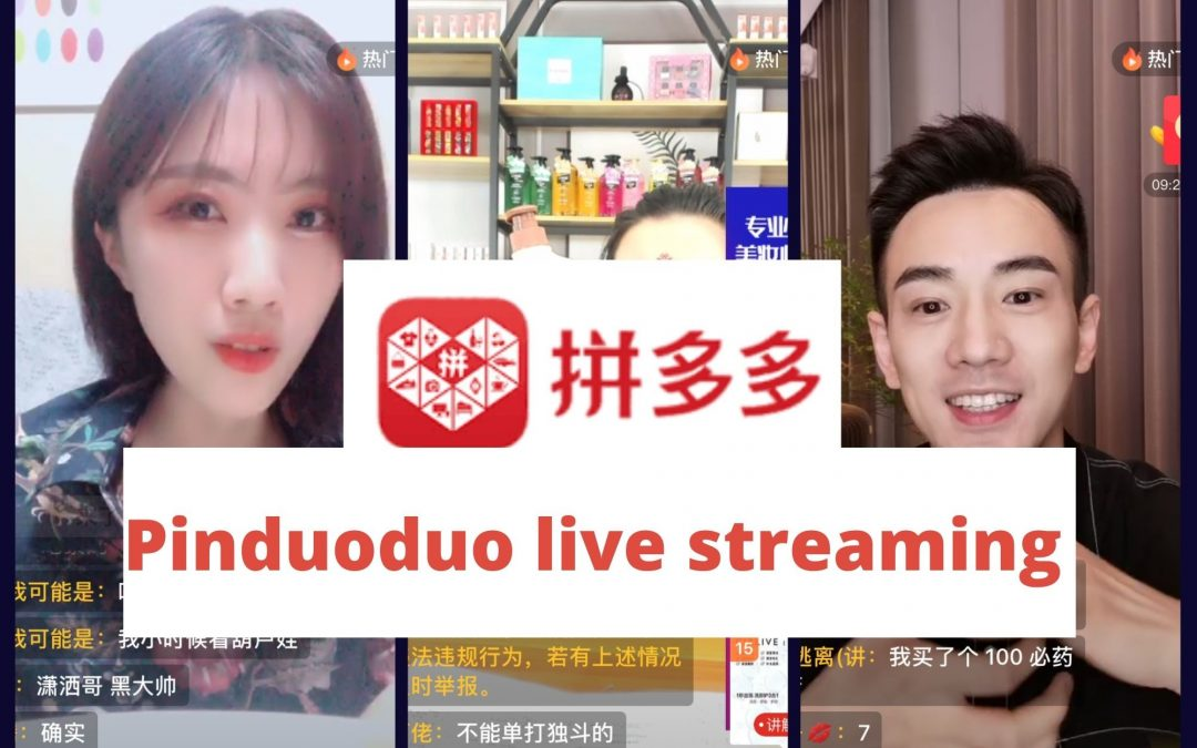 Pinduoduo livestreaming to boost sales of goods on its platform