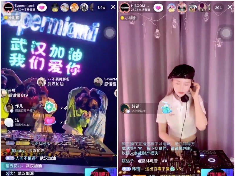 Chinese Social Media - Douyin DJ live streaming