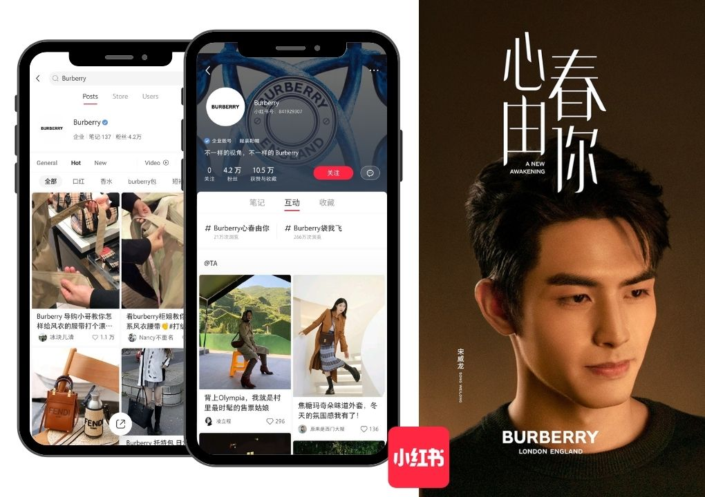 China social media - Burberry-Xiaohongshu