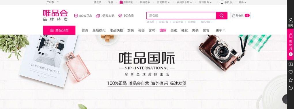 VIP International home page